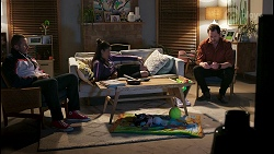 Toadie Rebecchi, Yashvi Rebecchi, Shane Rebecchi in Neighbours Episode 8490