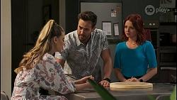 Chloe Brennan, Aaron Brennan, Nicolette Stone in Neighbours Episode 8490