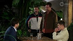 Pierce Greyson, Toadie Rebecchi, Shane Rebecchi, Hendrix Greyson in Neighbours Episode 8490