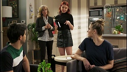David Tanaka, Jane Harris, Nicolette Stone, Chloe Brennan in Neighbours Episode 8491