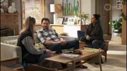Mackenzie Hargreaves, Shane Rebecchi, Yashvi Rebecchi in Neighbours Episode 8491
