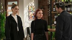 Chloe Brennan, Nicolette Stone, Pierce Greyson in Neighbours Episode 8491