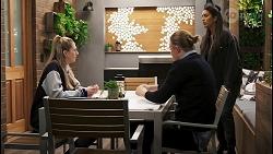 Mackenzie Hargreaves, Richie Amblin, Yashvi Rebecchi in Neighbours Episode 8491