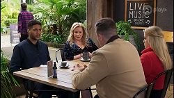 Levi Canning, Sheila Canning, Kyle Canning, Roxy Willis in Neighbours Episode 8492