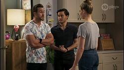 Aaron Brennan, David Tanaka, Chloe Brennan in Neighbours Episode 8494