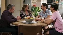 Paul Robinson, Terese Willis, Aaron Brennan, David Tanaka in Neighbours Episode 8494