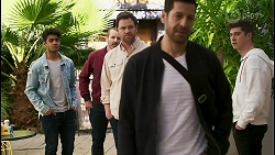 Jay Rebecchi, Toadie Rebecchi, Shane Rebecchi, Pierce Greyson, Hendrix Greyson in Neighbours Episode 8494