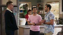 Kyle Canning, Nicolette Stone, David Tanaka, Aaron Brennan in Neighbours Episode 8495