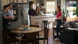 David Tanaka, Aaron Brennan, Paul Robinson, Terese Willis, Nicolette Stone in Neighbours Episode 8496
