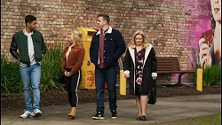 Levi Canning, Roxy Willis, Kyle Canning, Sheila Canning in Neighbours Episode 8496