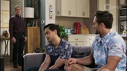 Paul Robinson, David Tanaka, Aaron Brennan in Neighbours Episode 8496