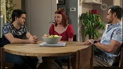 David Tanaka, Nicolette Stone, Aaron Brennan in Neighbours Episode 8496