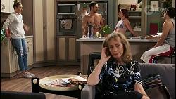 Chloe Brennan, Aaron Brennan, Jane Harris, Nicolette Stone, David Tanaka in Neighbours Episode 8496