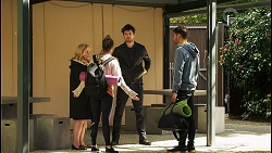Sheila Canning, Bea Nilsson, Nathan Packard, Levi Canning in Neighbours Episode 8497
