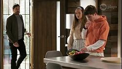 Pierce Greyson, Harlow Robinson, Hendrix Greyson in Neighbours Episode 8497