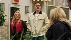 Roxy Willis, Kyle Canning, Sheila Canning, Levi Canning in Neighbours Episode 8497