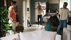 Hendrix Greyson, Richie Amblin, Jay Rebecchi in Neighbours Episode 8497