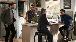 Pierce Greyson, Aaron Brennan, Paul Robinson, David Tanaka in Neighbours Episode 8498