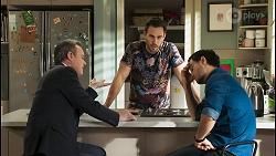 Paul Robinson, Aaron Brennan, David Tanaka in Neighbours Episode 8498