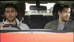 Aaron Brennan, Paul Robinson, David Tanaka, Pierce Greyson in Neighbours Episode 8498