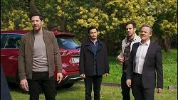 Pierce Greyson, David Tanaka, Aaron Brennan, Paul Robinson in Neighbours Episode 8498