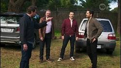 Shane Rebecchi, Karl Kennedy, Toadie Rebecchi, Pierce Greyson in Neighbours Episode 8498