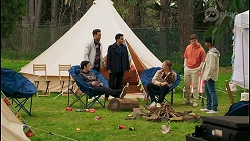 Ollie Sudekis, Aaron Brennan, David Tanaka, Richie Amblin, Hendrix Greyson, Jay Rebecchi in Neighbours Episode 8498