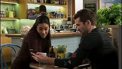 Yashvi Rebecchi, Ned Willis in Neighbours Episode 8499