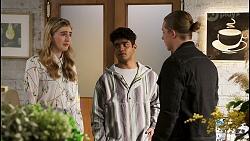 Mackenzie Hargreaves, Jay Rebecchi, Richie Amblin in Neighbours Episode 8499