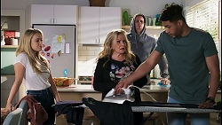 Roxy Willis, Sheila Canning, Kyle Canning, Levi Canning in Neighbours Episode 8500