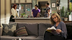 Nicolette Stone, David Tanaka, Aaron Brennan, Jane Harris in Neighbours Episode 8500