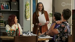 Nicolette Stone, Harlow Robinson, David Tanaka, Aaron Brennan in Neighbours Episode 8501