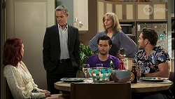 Nicolette Stone, Paul Robinson, David Tanaka, Jane Harris, Aaron Brennan in Neighbours Episode 8501