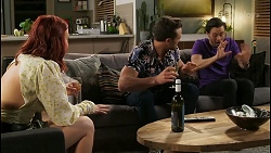 Nicolette Stone, Aaron Brennan, David Tanaka in Neighbours Episode 8501