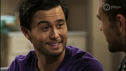 David Tanaka, Aaron Brennan in Neighbours Episode 8501