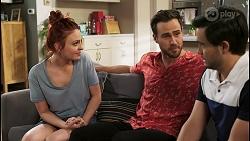 Nicolette Stone, Aaron Brennan, David Tanaka in Neighbours Episode 8502