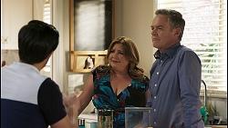 David Tanaka, Terese Willis, Paul Robinson in Neighbours Episode 8502