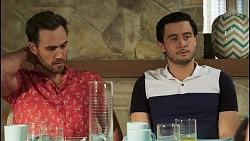 Aaron Brennan, David Tanaka in Neighbours Episode 8502