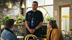 Hendrix Greyson, Constable Andrew Rodwell, Harlow Robinson in Neighbours Episode 8503