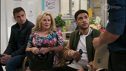 Kyle Canning, Sheila Canning, Levi Canning, David Tanaka in Neighbours Episode 8503