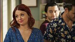 Nicolette Stone, David Tanaka, Aaron Brennan in Neighbours Episode 8504