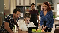 Aaron Brennan, Chloe Brennan, David Tanaka, Nicolette Stone in Neighbours Episode 8504