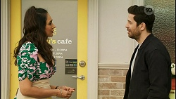 Dipi Rebecchi, Pierce Greyson in Neighbours Episode 8504