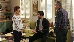 Susan Kennedy, Pierce Greyson, Karl Kennedy in Neighbours Episode 8504
