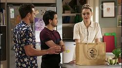 Aaron Brennan, David Tanaka, Chloe Brennan in Neighbours Episode 8505