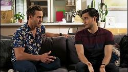 Aaron Brennan, David Tanaka in Neighbours Episode 8505