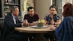 Paul Robinson, David Tanaka, Aaron Brennan, Nicolette Stone in Neighbours Episode 8505