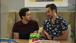 David Tanaka, Aaron Brennan in Neighbours Episode 8505