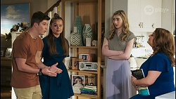 Hendrix Greyson, Harlow Robinson, Mackenzie Hargreaves, Terese Willis in Neighbours Episode 8507