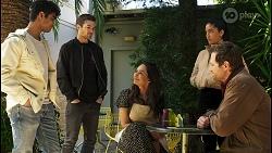 Jay Rebecchi, Ned Willis, Dipi Rebecchi, Yashvi Rebecchi, Shane Rebecchi in Neighbours Episode 8507